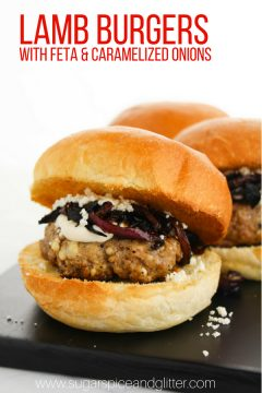 Lamb Burger with Caramelized Onions and Feta