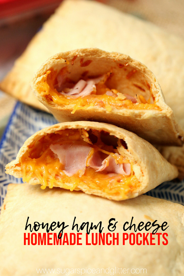 A delicious homemade ham and cheese lunch pocket is the perfect hot lunch box idea - these ham and cheese pastries are filling and budget-friendly