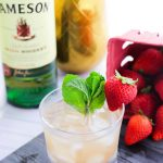 Strawberry Whiskey Smash (with Video)