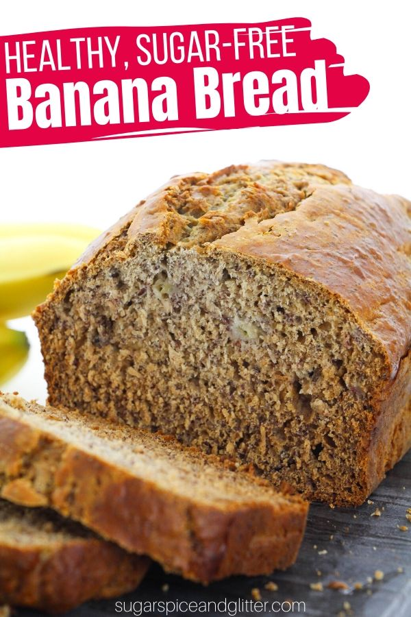Fibre-rich, sugar-free banana bread sweetened with just a touch of honey. It tastes just like mom used to make - but without all that sneaky sugar!
