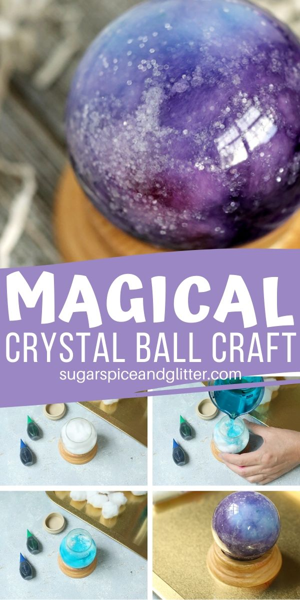A simple DIY idea for a Crystal Ball craft - can be inspired by the Wizard of Oz, Disney's Haunted Mansion (Madame Leotta), or even Harry Potter. It would also make a great DIY Halloween decoration. Galaxy craft, unicorn craft