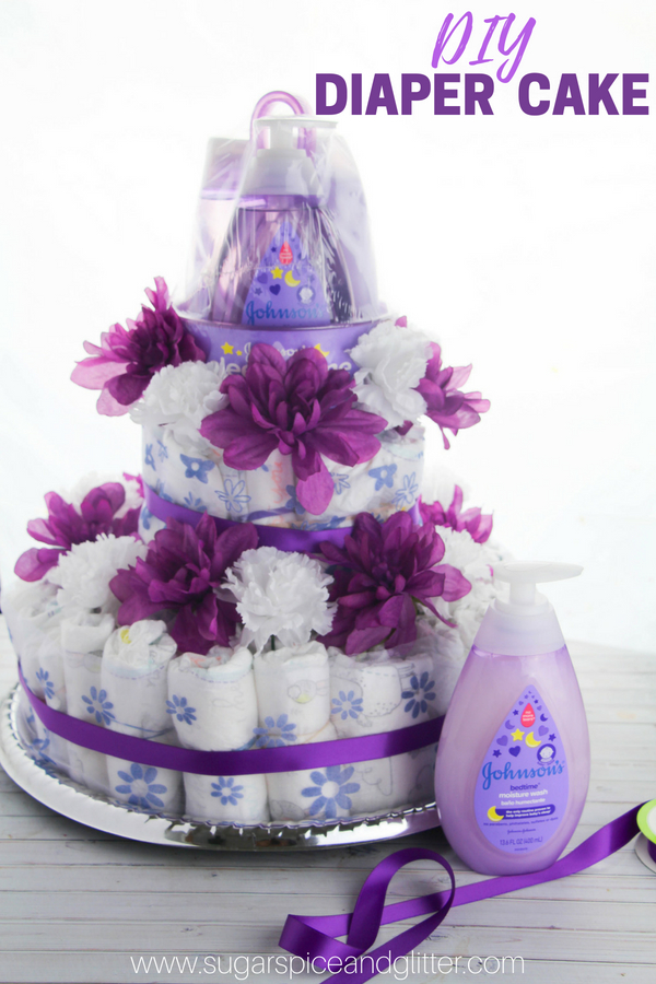 Diy Diaper Cake With Video Sugar Spice And Glitter