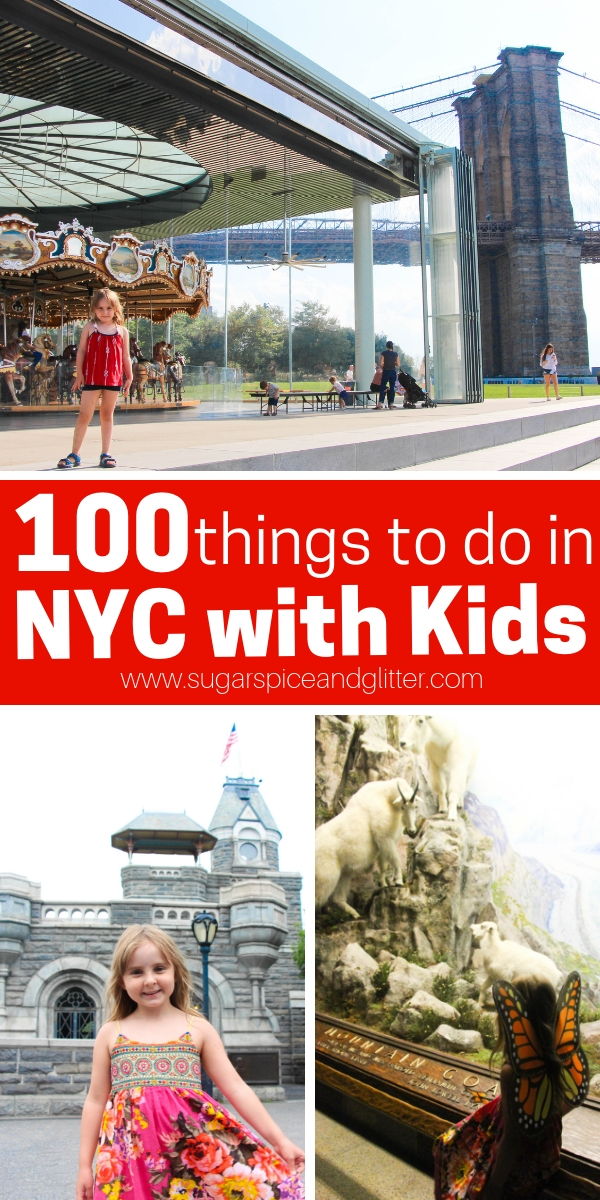 Whoever told you that NYC is not for kids was insane - there is so much to do in NYC with kids, this list of 100 Family Activities in NY is just the beginning