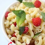 Raspberry Mint Pasta Salad