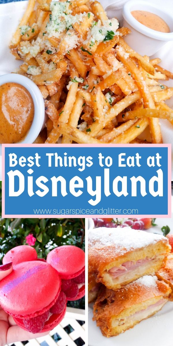 Everything you need to eat at Disneyland California! Plus a free printable checklist to help you navigate your park snacking. Meals, snacks and drinks