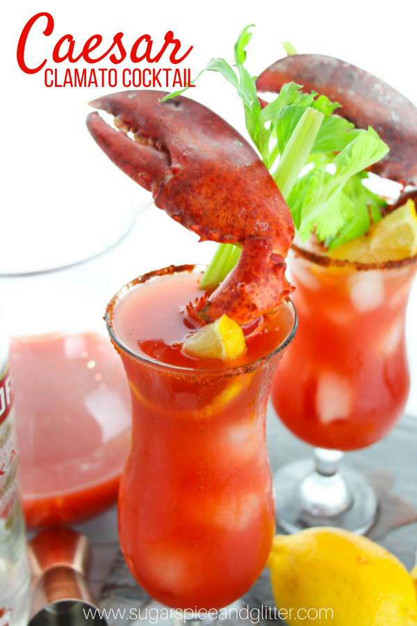 The best spicy vodka cocktail recipe, this Caesar cocktail is a spicy, better Bloody Mary mixed with a Michelada