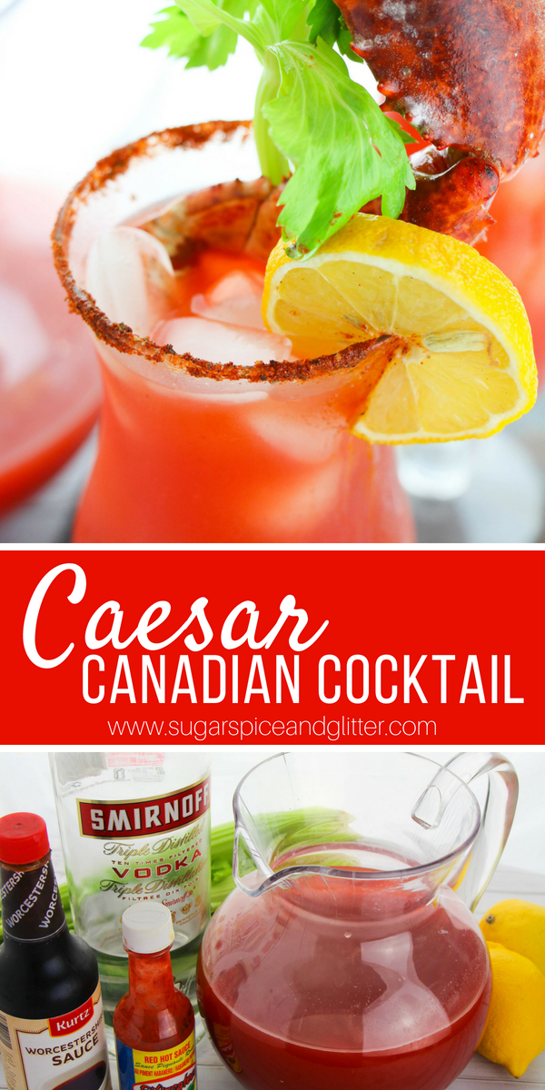A refreshing, brisk and spicy vodka cocktail that is a cross between a Bloody Mary and a Michelada, the Canadian Caesar cocktail is the best summer cocktail recipe ever