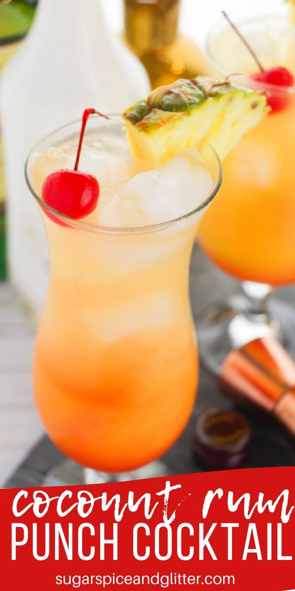 This tropical Coconut Rum Punch recipe is the ultimate summer cocktail. Citrusy and not too sweet with just the right amount of coconut flavor - can be made with coconut vodka or plain rum, too