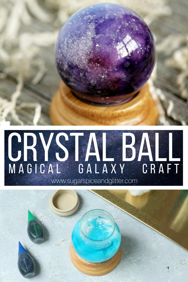 An easy party craft for kids, this Crystal Ball is a cute Harry Potter craft or makes a fun piece of home decor - especially for a Halloween theme! Disney's Haunted Mansion, Labyrinth, or Wizard of Oz, too!
