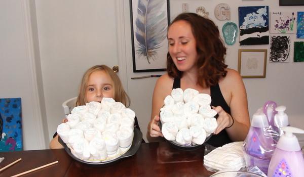 Diy Single Layer Diaper Cake
