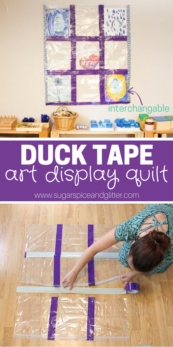 How to make an interchangable Art Display Quilt with just two classroom staples - this is the best way to display art and keep it protected from classroom spills or damage