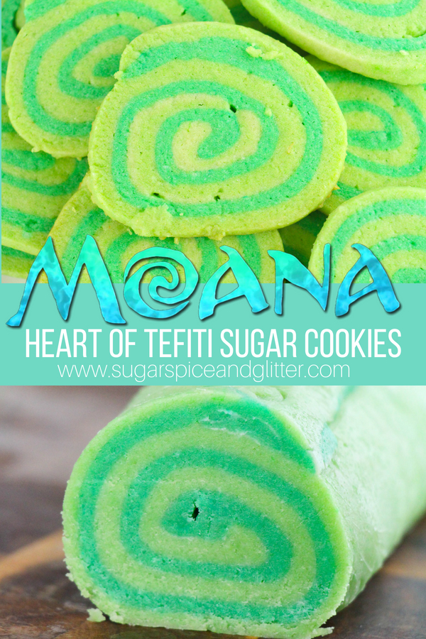 Make your own Heart of Tefiti-inspired Moana sugar cookies for your child's Moana birthday party or just a fun Moana movie night