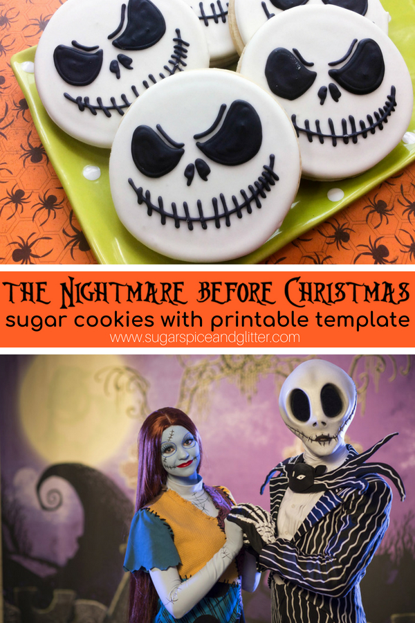 Jack Skellington Sugar Cookies ⋆ Sugar, Spice and Glitter