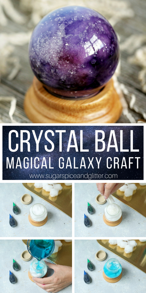 This Magical Crystal Ball craft for kids only takes 10 minutes to make! Perfect for a Harry Potter movie night, Wizard of Oz, Haunted Mansion or even a Labyrinth theme. An easy party craft for kids