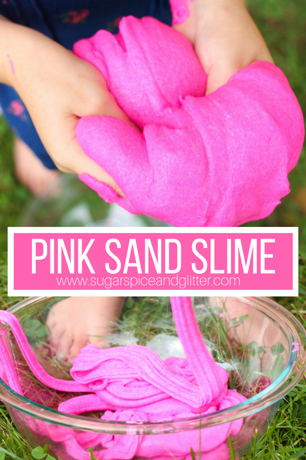 This squishy sand slime is only 4 ingredients and has an amazing smoothy yet gritty texture - a fun twist on fluffy slime