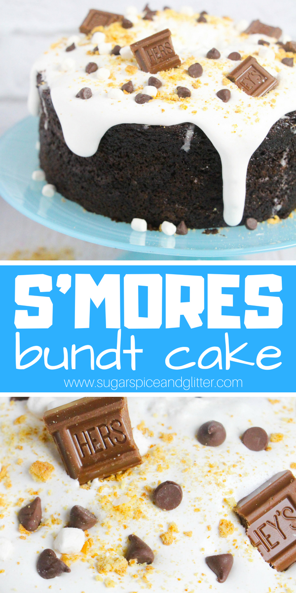 If you LOVE S'mores, you're going to go crazy for this super chocolatey, marshmallow-topped S'mores Bundt Cake! The only thing better than the taste is how easy it is to make!