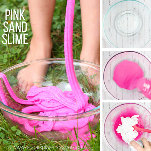 How to make fluffy slime with craft sand