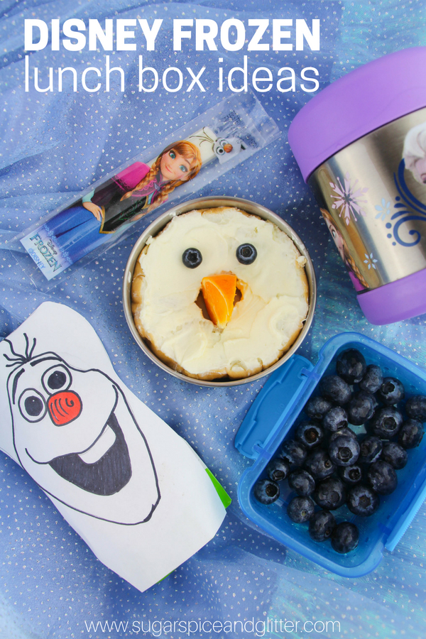 Low-prep Disney Frozen Lunch Box Ideas for a fun Disney themed lunch box kids are going to love