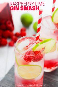 Raspberry Lime Gin Smash
