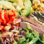 Southwestern Steak Salad with Creamy Avocado Dressing
