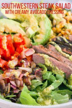 Southwestern Steak Salad with Creamy Avocado Dressing