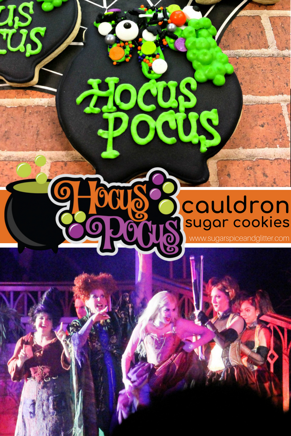 This Hocus Pocus sugar cookie recipe is super simple and such a fun addition to just about any Halloween event - from family movie nights to Halloween themed lunch boxes or parties!