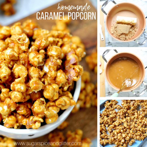 How to make homemade caramel popcorn from scratch