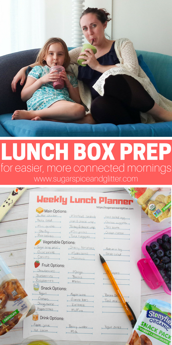 Lunch box prep can help streamline your mornings and make way for more connection and special family moments before the busy day ahead.