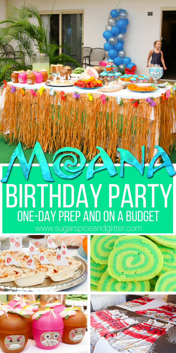 A simple DIY Moana Birthday Party - this party has so many fun details in the Moana themed food, Moana games and decor, but the best part is that this party is low-stress and budget-friendly