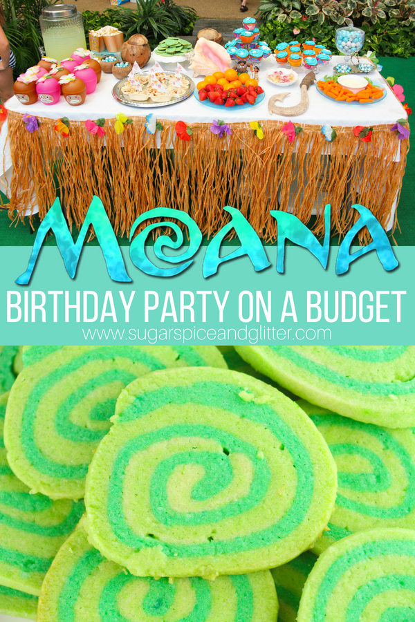 Everything you need for planning your child's Moana Birthday Party on a budget, from Moana party food, Moana activities and games, to low-cost tropical decor, we've got you covered
