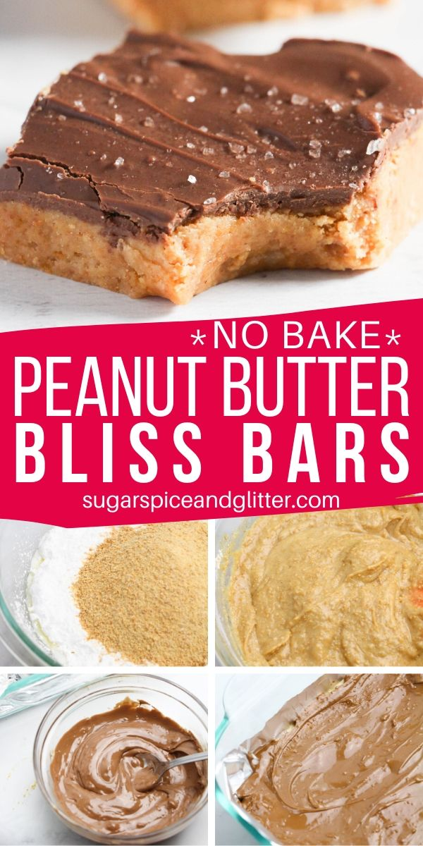How to make peanut butter bliss bars, the best peanut butter and chocolate dessert bar recipe
