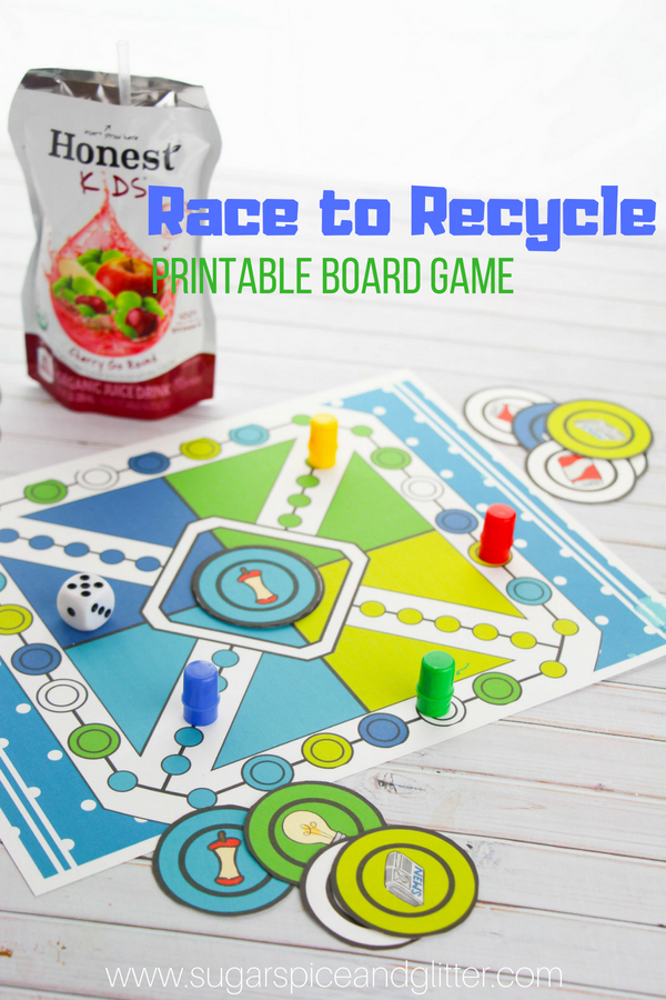 photograph regarding Printable Board Games for Adults titled Printable Recycling Video game for Children ⋆ Sugar, Spice and Glitter