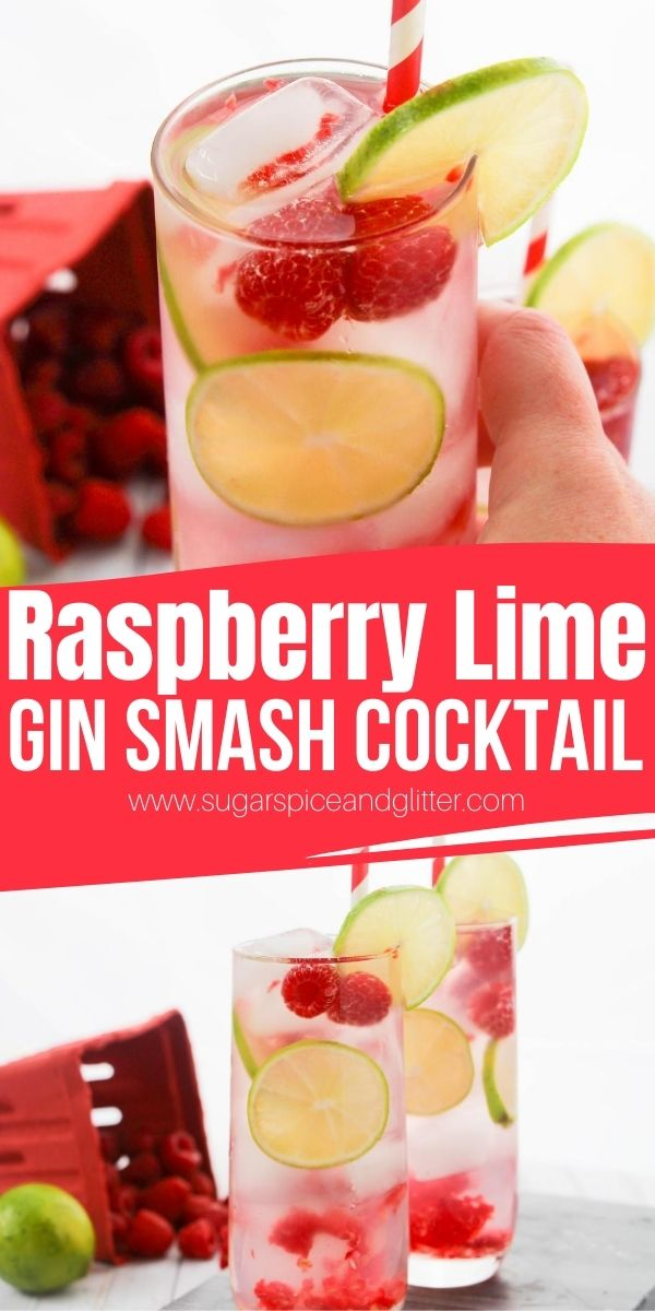 A New England classic, this Raspberry-Lime Gin Smash is a classic summer cocktail perfect for sipping on the porch or pairing with a lobster or clam bake