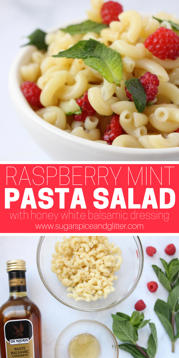 This easy summer pasta salad uses a homemade honey balsamic dressing to create a refreshing and unexpected pasta salad perfect for foodie guests