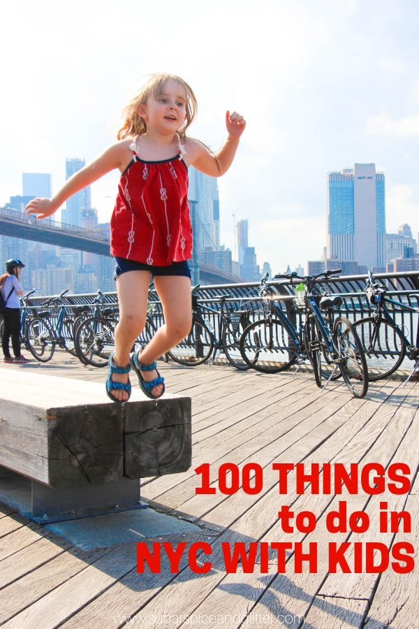 100 things to do in NYC with kids during your New York City family vacation - from free activities to the best attractions and spots to eat, we've got it all covered