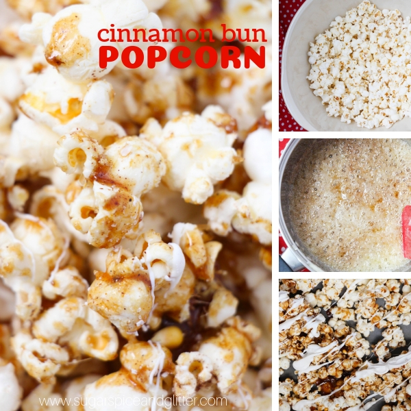 How to make a homemade candied popcorn that tastes just like cinnamon buns!