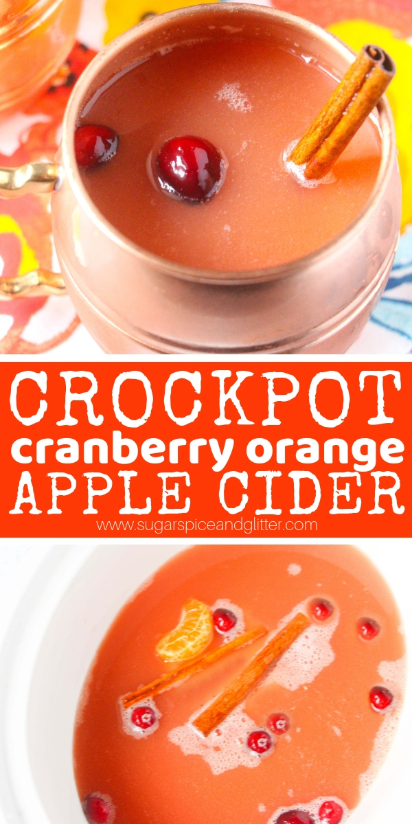 This crockpot apple cider recipe is such a treat after being out in the cold and it makes your house smell amazing- what better way to welcome guests into your home?