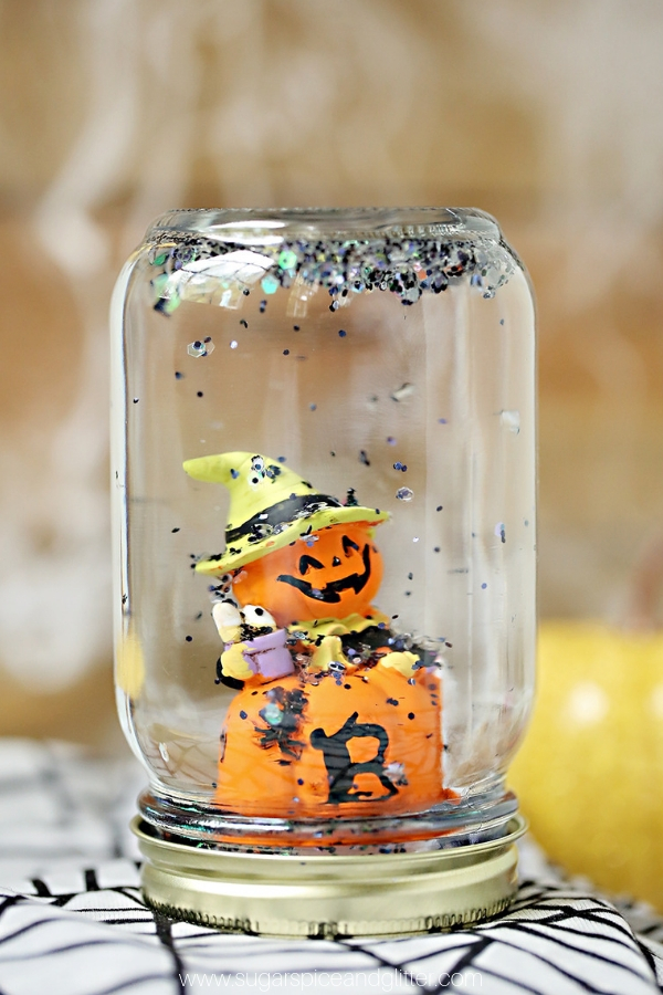 how to make a halloween snow globe
