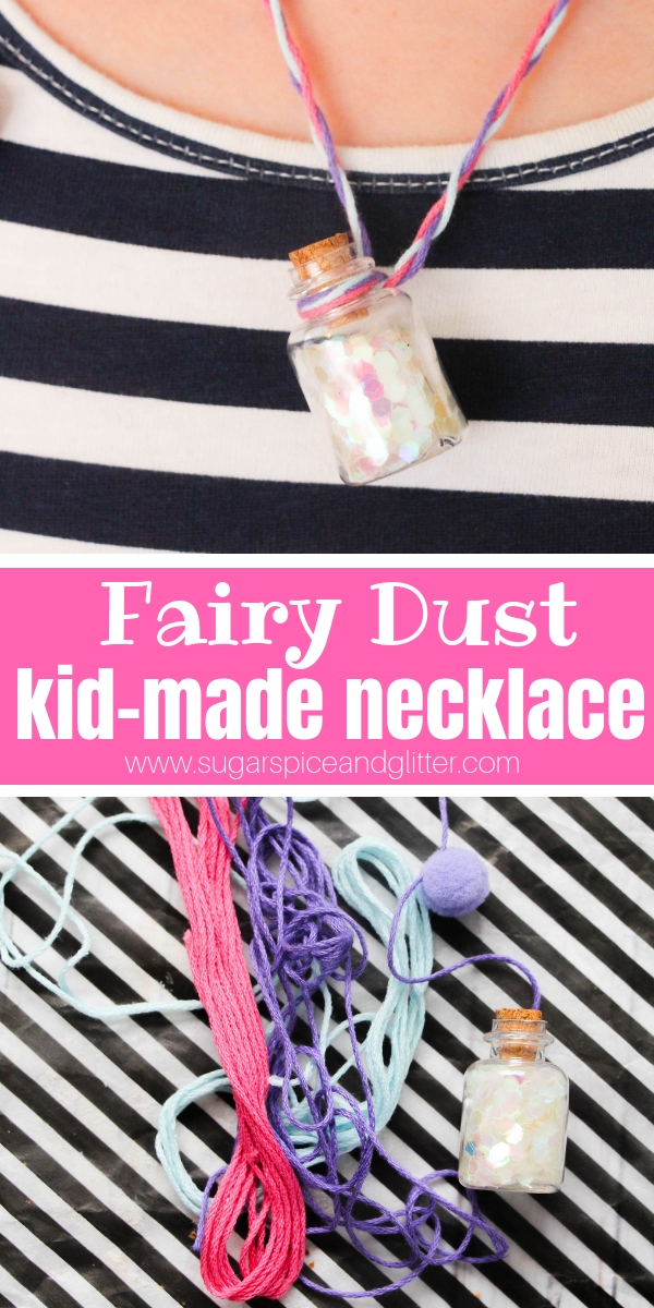All you need is faith, trust, and a Fairy Dust Necklace and you will be spreading magic wherever you go! A fun Disney craft for kids