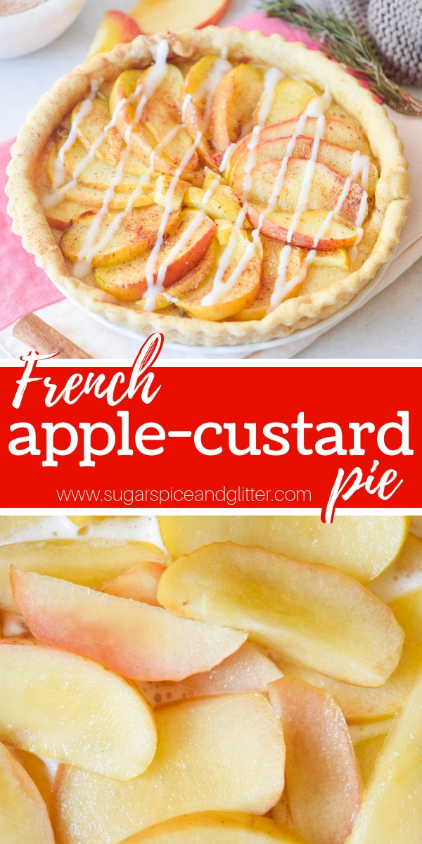 A classic apple pie recipe, this French Apple Custard Pie is super simple to make but it tastes indulgent and looks elegant