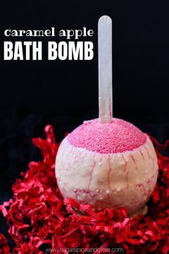 Caramel Apple Bath Bomb (with Video)