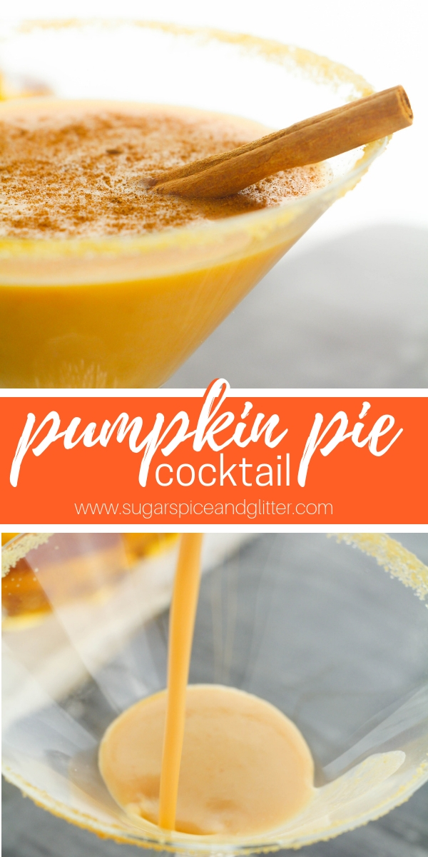 This Pumpkin Pie Cocktail is a delicious vodka cocktail for fall, and tastes just like a slice of pumpkin pie in a glass