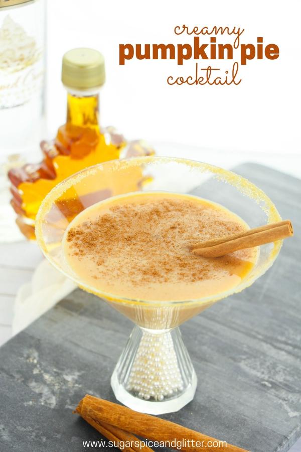This easy, creamy pumpkin vodka cocktail tastes just like a pumpkin pie in a glass. A delicious pumpkin cocktail using vanilla vodka and creme de cocoa