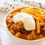 Crockpot Turkey Pumpkin Chili (with Video)