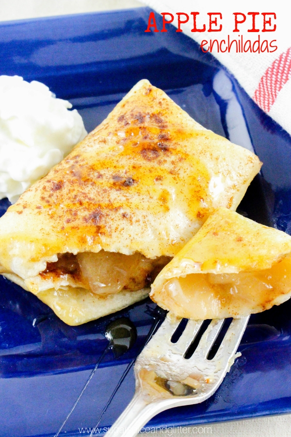 Apple Pie Enchiladas AKA Mexican Apple Pies are a super easy and fun twist on a classic apple pie recipe
