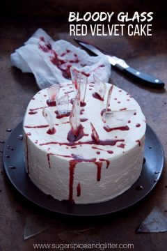 Halloween Red Velvet Cake with Glass Candy