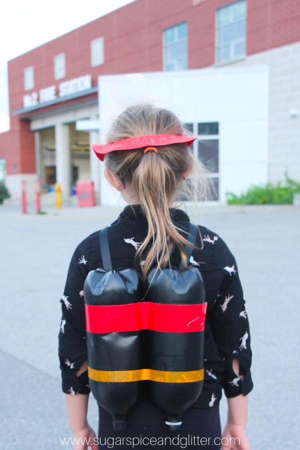 DIY Firefighter Costume for Kids