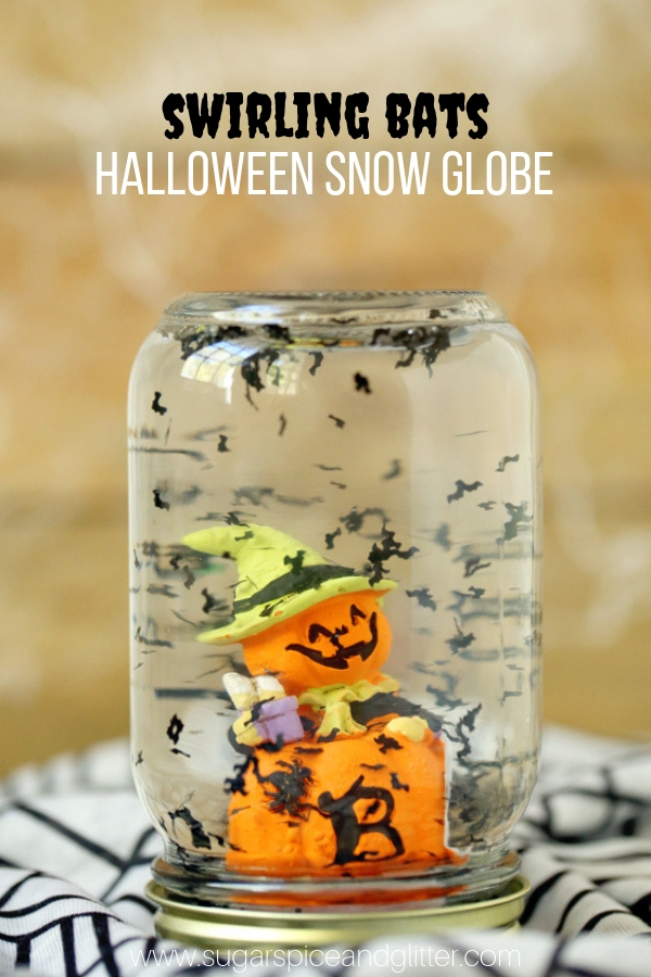 A quick and easy Halloween craft perfect for classrooms or parties, this Halloween Snow Globe is guaranteed to be a hit with your crew! A fun bat craft for kids