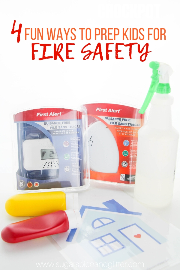 Easy ways to prepare kids for fire safety so that they are not scared and they remember how to be safe if there is a fire