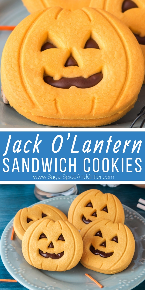 A fun twist on Pumpkin Sugar Cookies, these Jack O'Lantern cookies taste like a homemade Milano cookie - but with a fun Halloween twist!